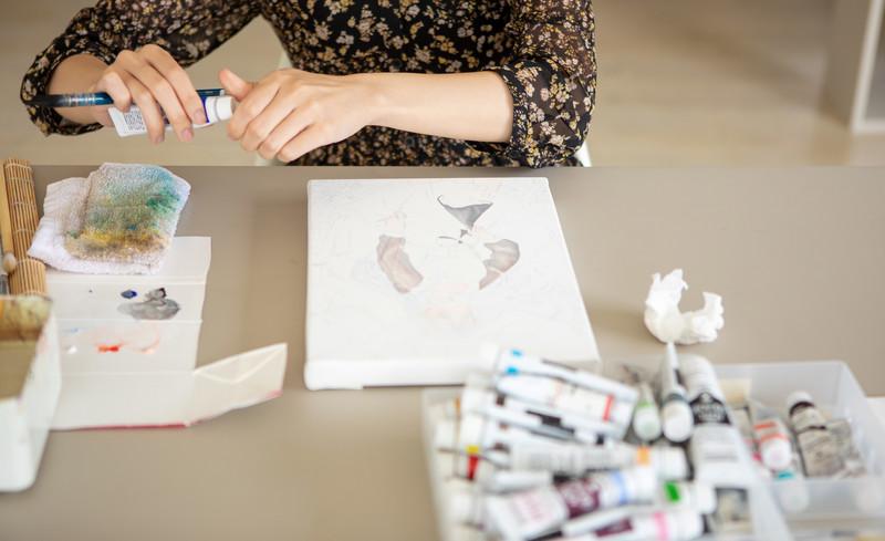子どものおもちゃ 手作り絵の具